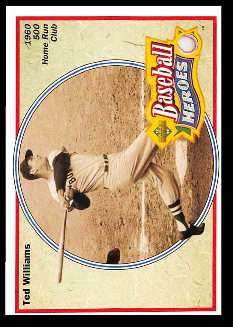 1992 Upper Deck Williams Heroes Ted Williams #34 card front image