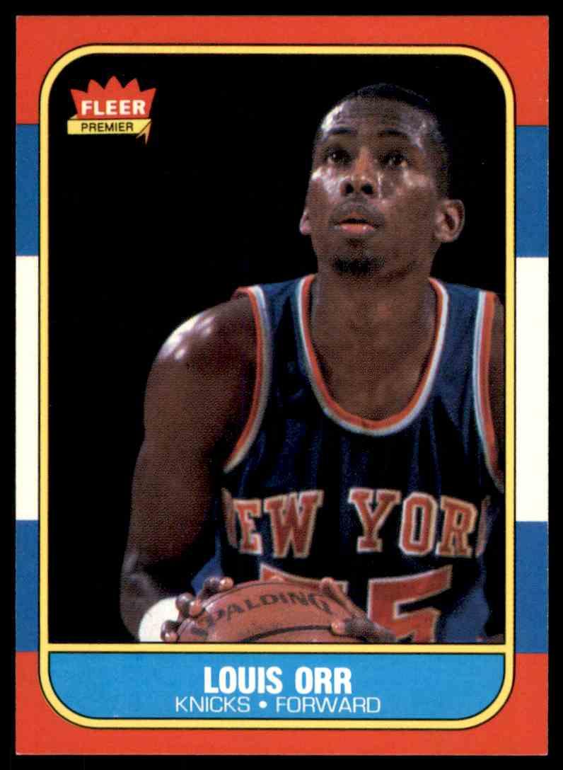 1986-87 Fleer Louis Orr #83 OF 132 card front image