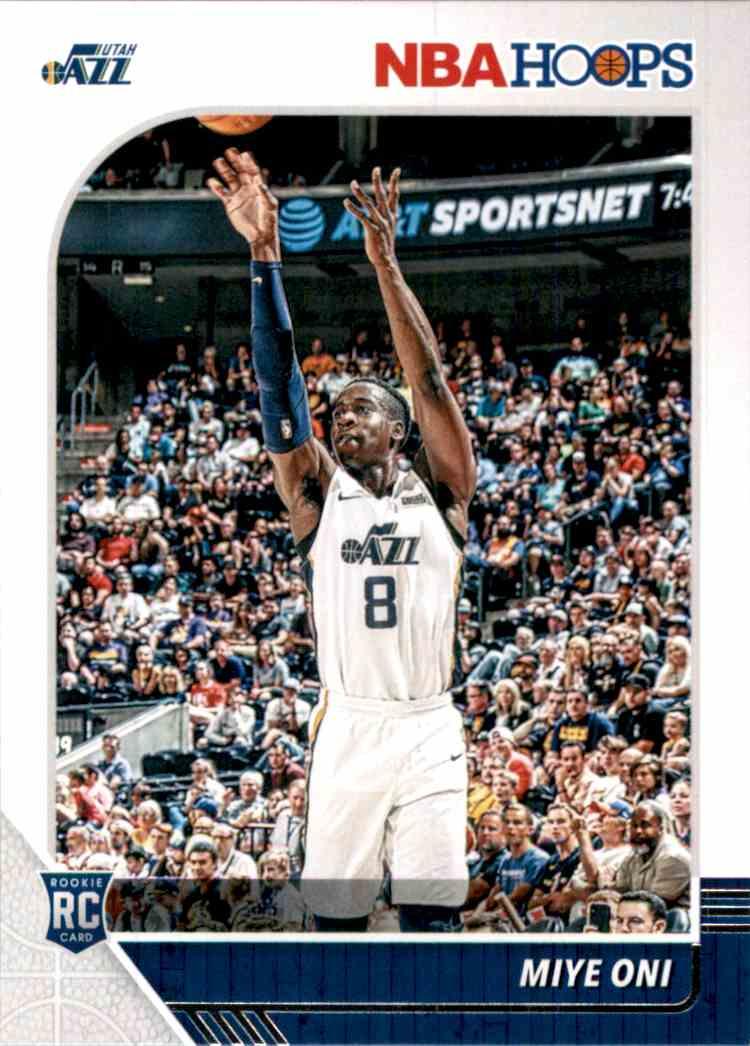 2019-20 Hoops Miye Oni RC #257 card front image