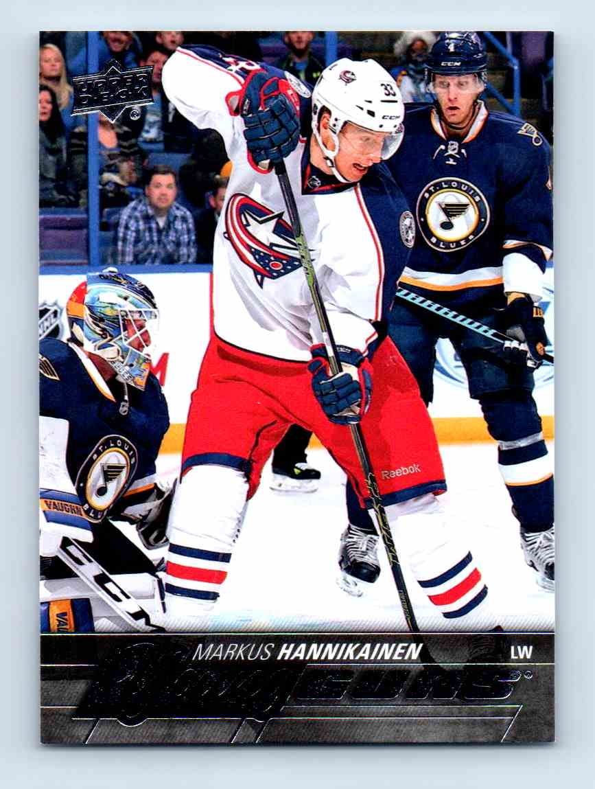 2015-16 Upper Deck Young Guns Markus Hannikainen #493 card front image
