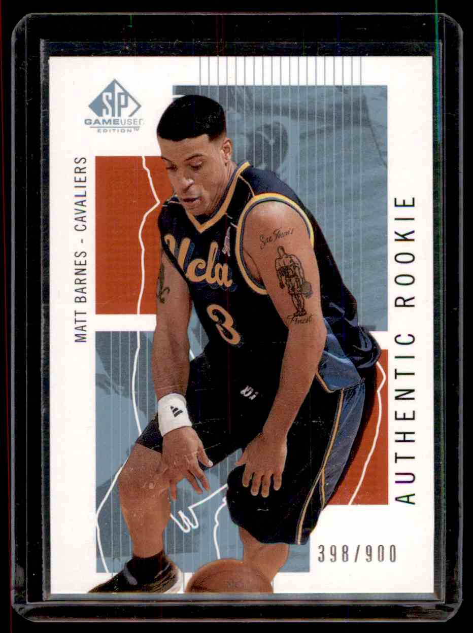 2002-03 SP Game Used Matt Barnes #129 card front image