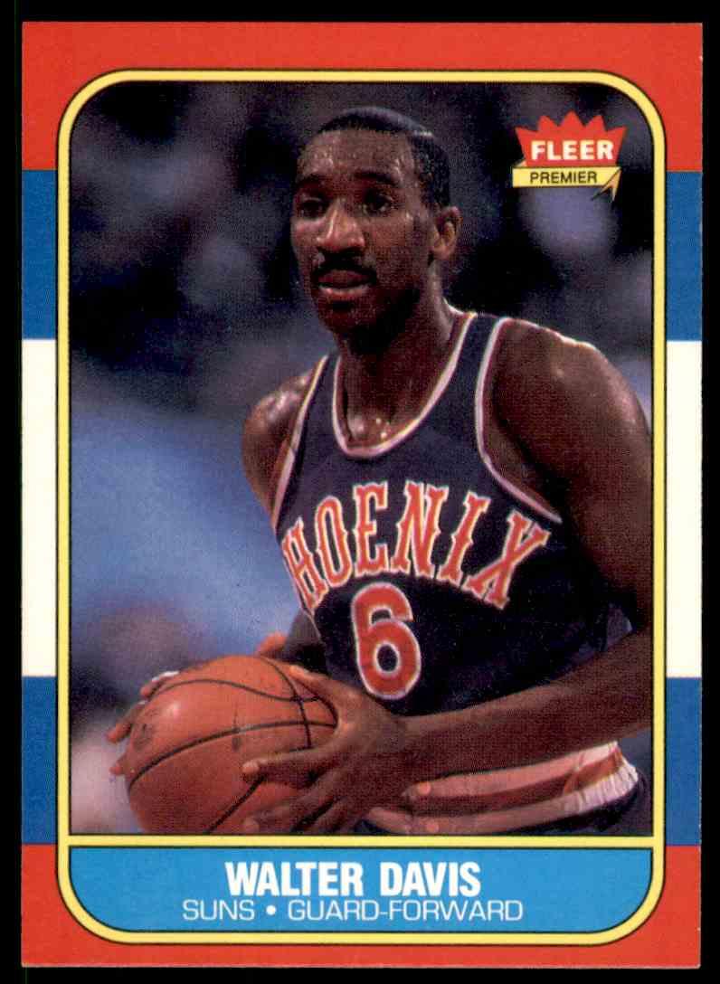 1986-87 Fleer Walter Davis-2 #23 OF 132 card front image