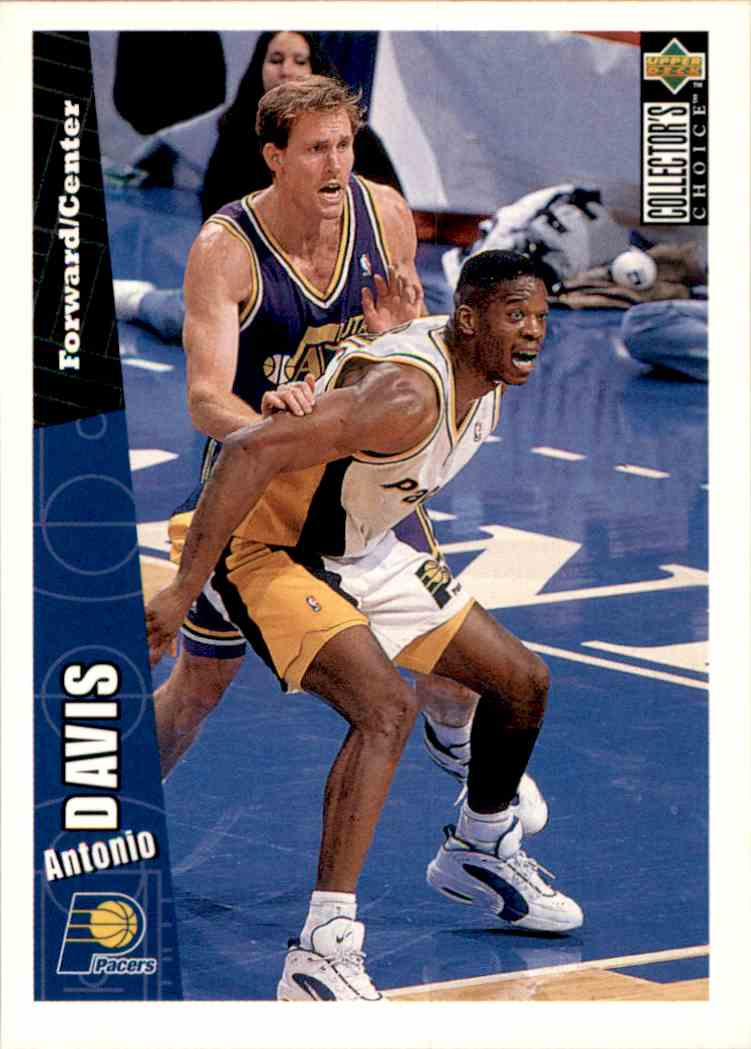 1996-97 Collector's Choice Antonio Davis #254 card front image