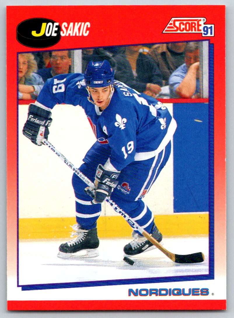 1991-92 Score Canadian Bilingual Joe Sakic #25 card front image
