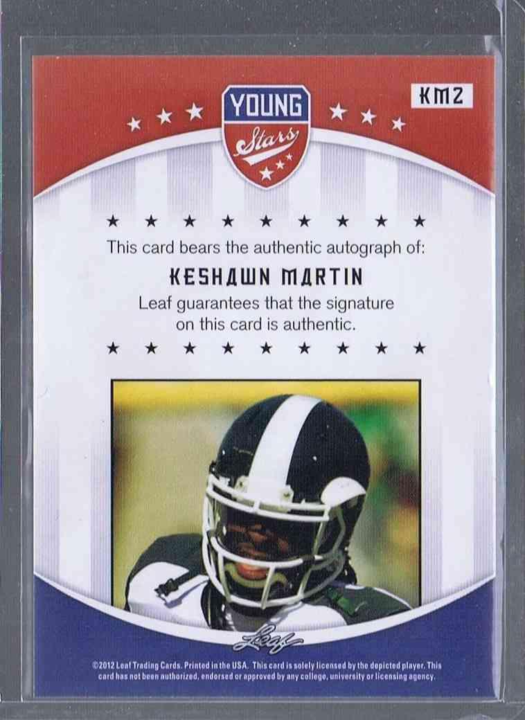 2012 Leaf Young Stars Keshawn Martin #KM2 card back image