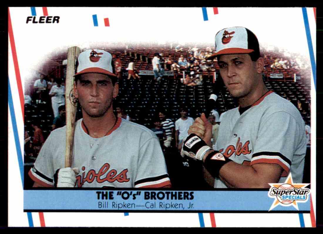 1988 Fleer Baseball Billy Ripken Cal Ripken Jr 640 On Kronozio