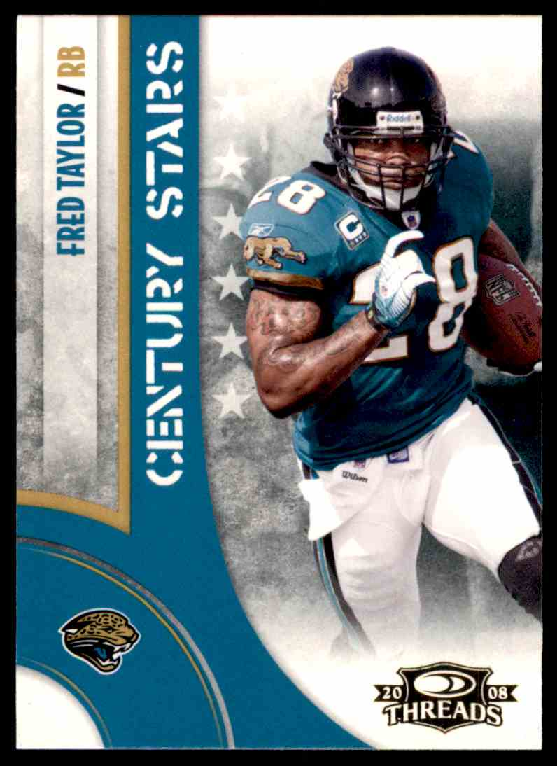 2008 Donruss Threads Century Stars Fred Taylor #CS-12 card front image