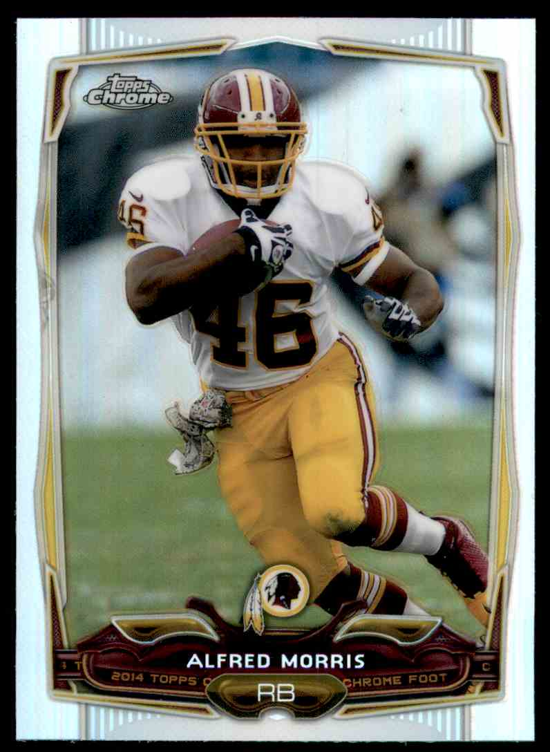 2014 Topps Chrome Refractors Alfred Morris #52 card front image