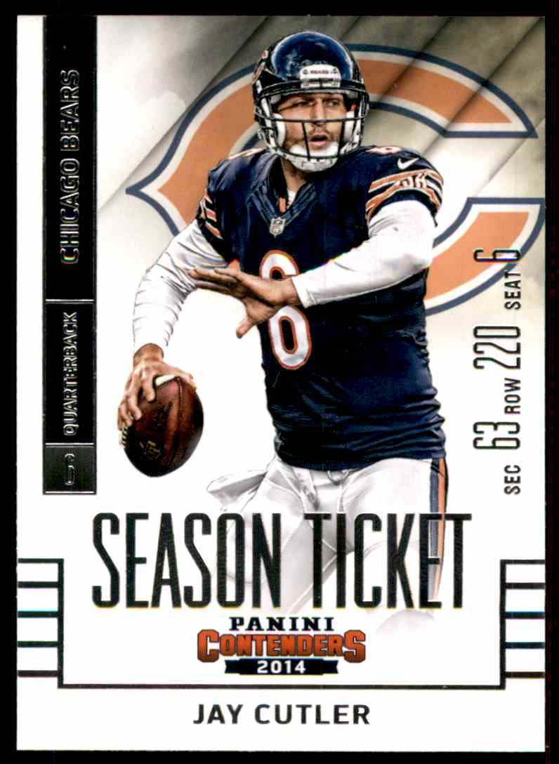 2014 Panini Contenders Jay Cutler #4 card front image