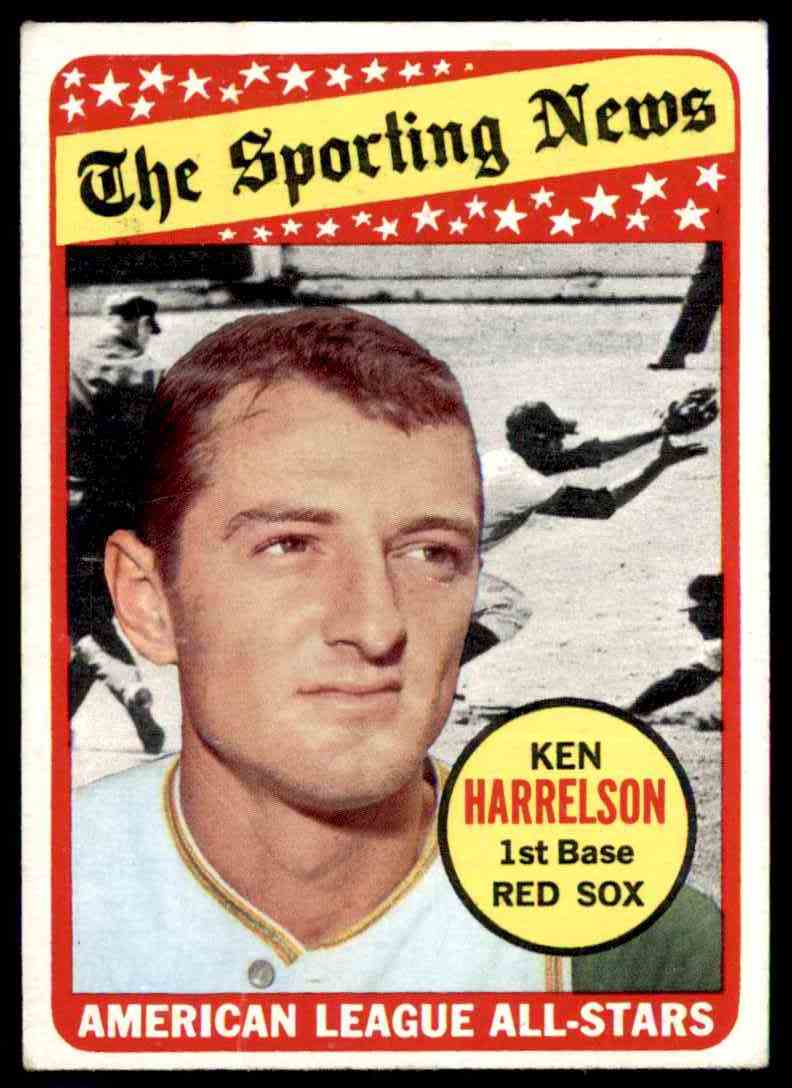 1969 Topps Ken Harrelson All-Star #417 card front image