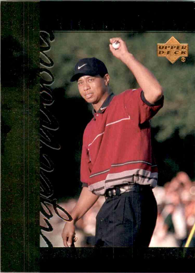 2001 Upper Deck Tiger's Tales Tiger Woods #TT18 card front image