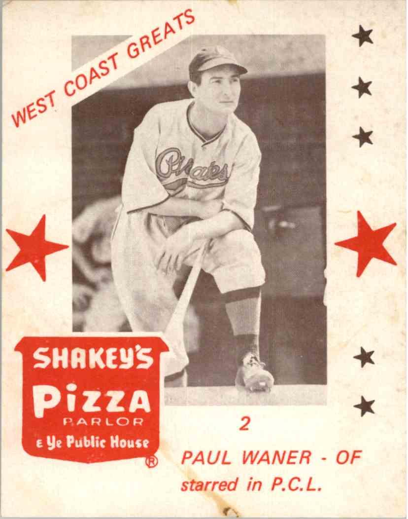 1960 Fleer #76 Paul Waner Pittsburgh Pirates Baseball Card