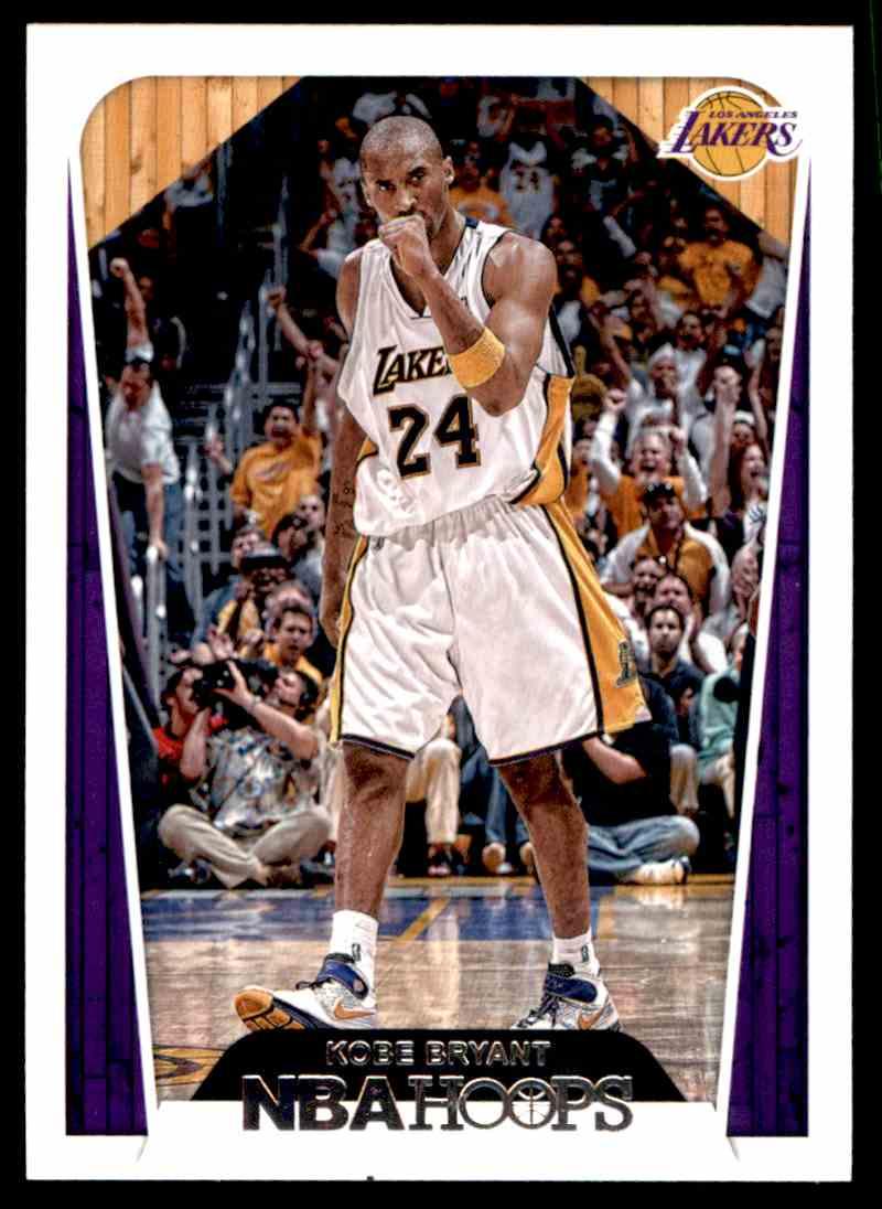 2018-19 Paninini NBA Hoops Kobe Bryant #296 card back image