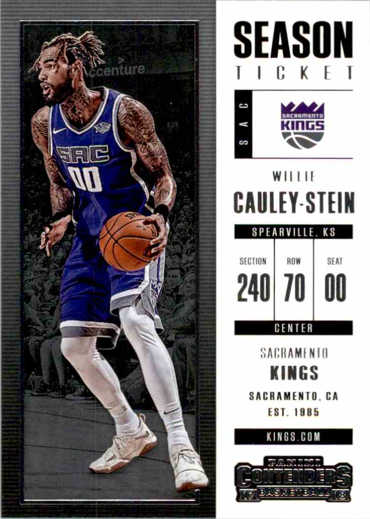 2017-18 Panini Contenders Base Willie Cauley-Stein #99 card front image