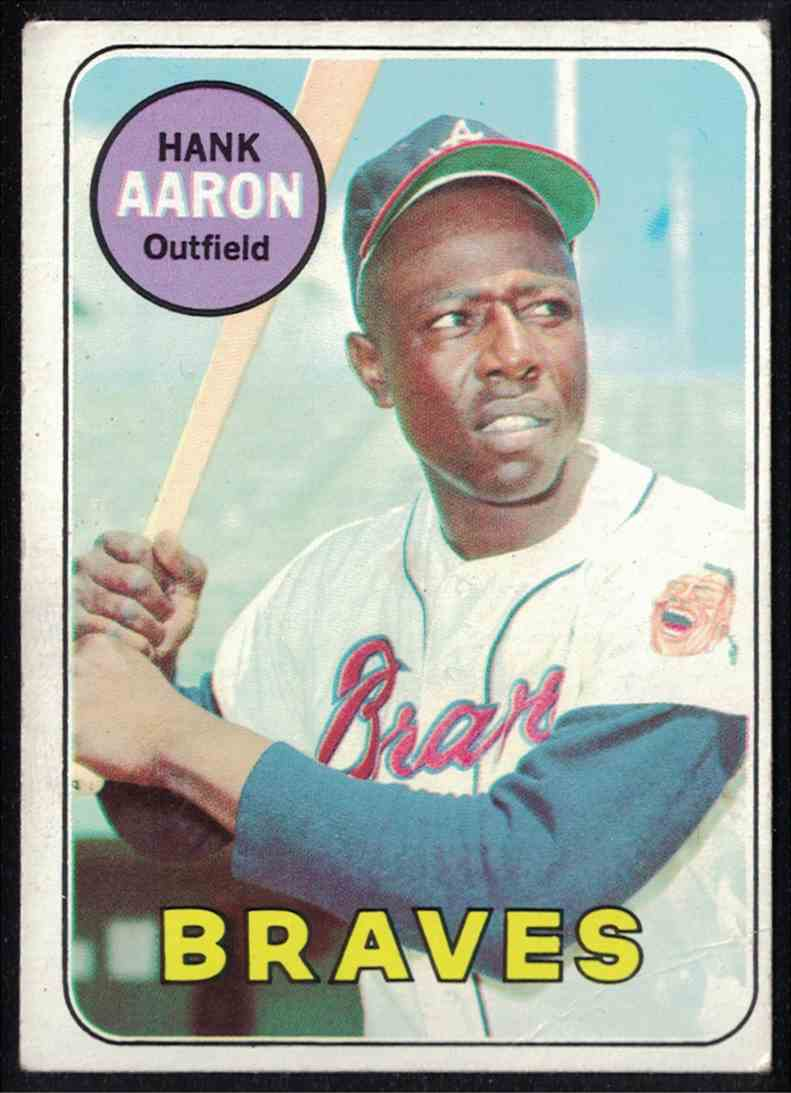 1969 Topps Hank Aaron VG-EX #100 card front image