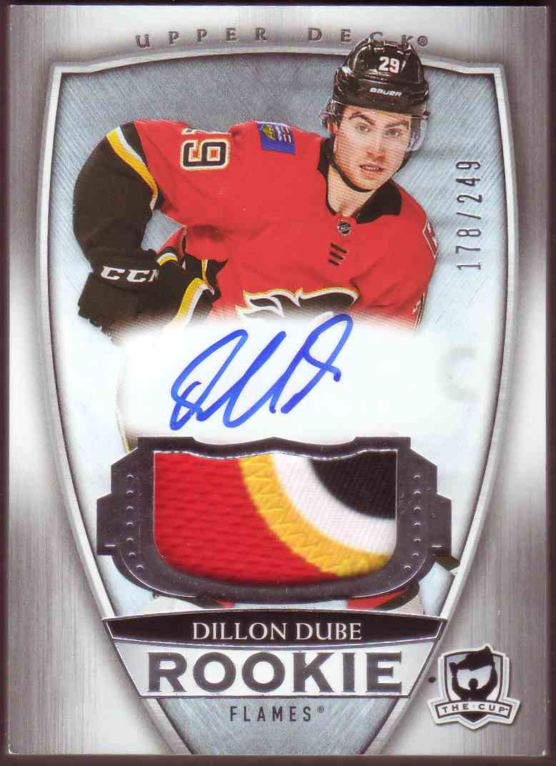 2018-19 Upper Deck The Cup Rookie Patch Auto Dillon Dube #105 card front image