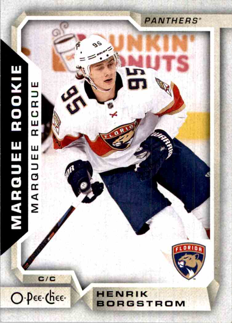 2018-19 O-Pee-Chee marquee Rookie Henrik Borgstrom #505 card front image
