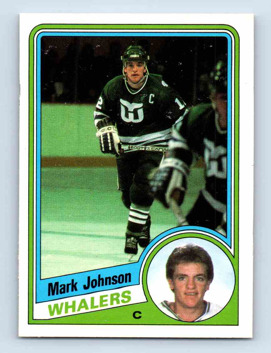 1984-85 O-Pee-Chee Mark Johnson #72 card front image