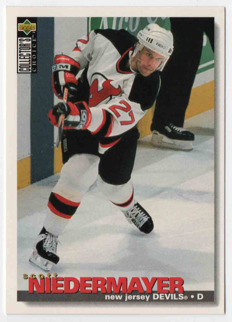 1995-96 Upper Deck Collector's Choice Scott Niedermayer #3 card front image