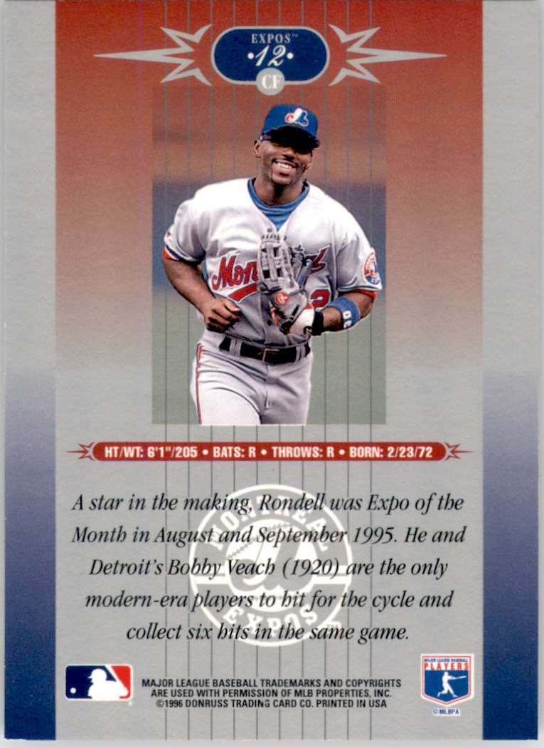 1996 Leaf Limited Marc Newfield #14 card back image