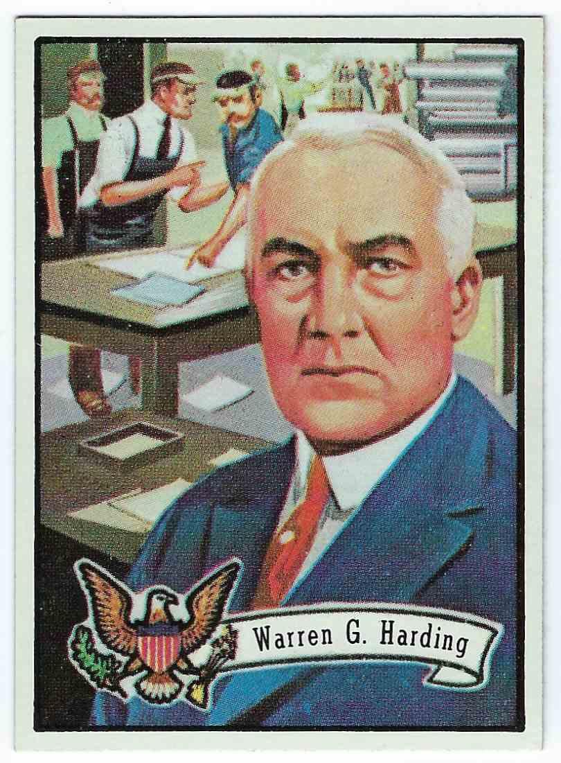 1972 Topps U.S. Presidents Warren G. Harding #28 card front image