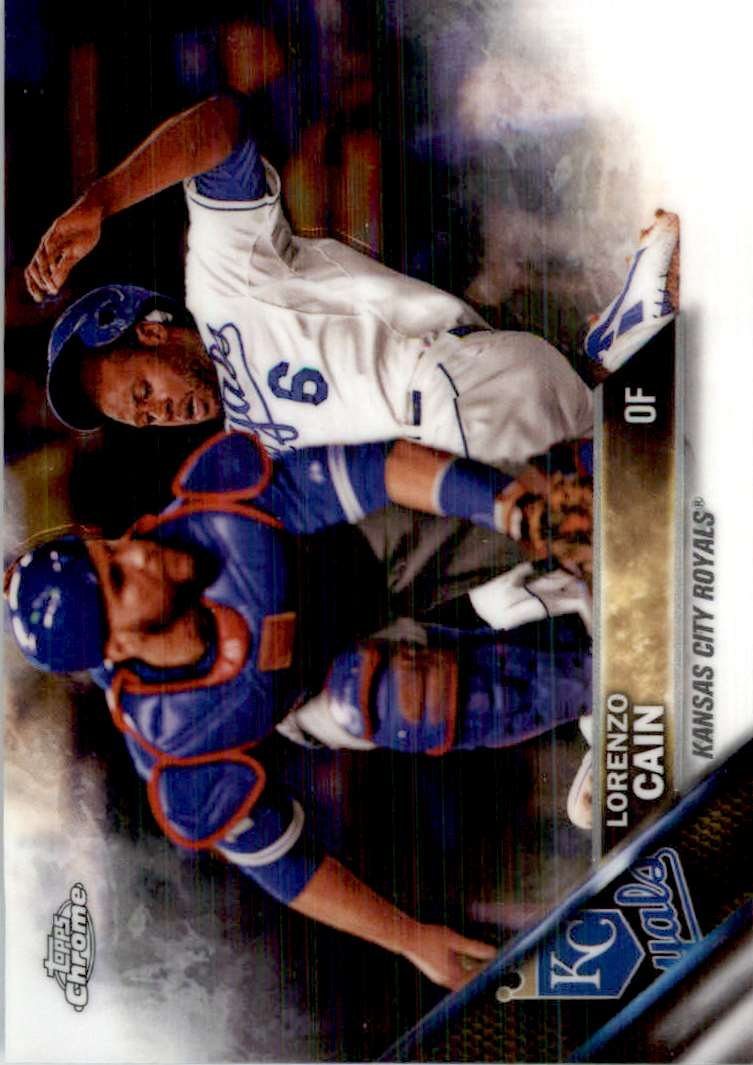 2016 Topps Chrome Lorenzo Cain #2 card front image
