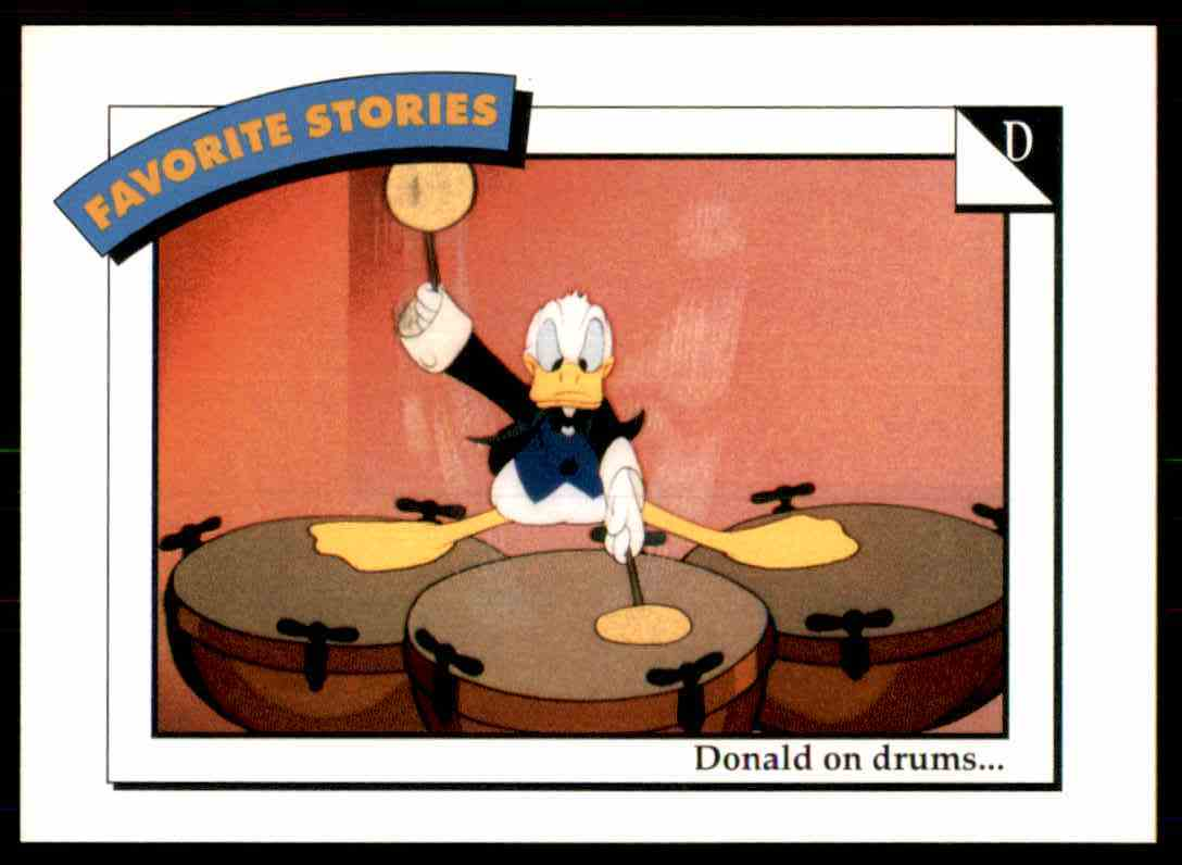 1991 Disney Series One Donald On Drums #58 card front image