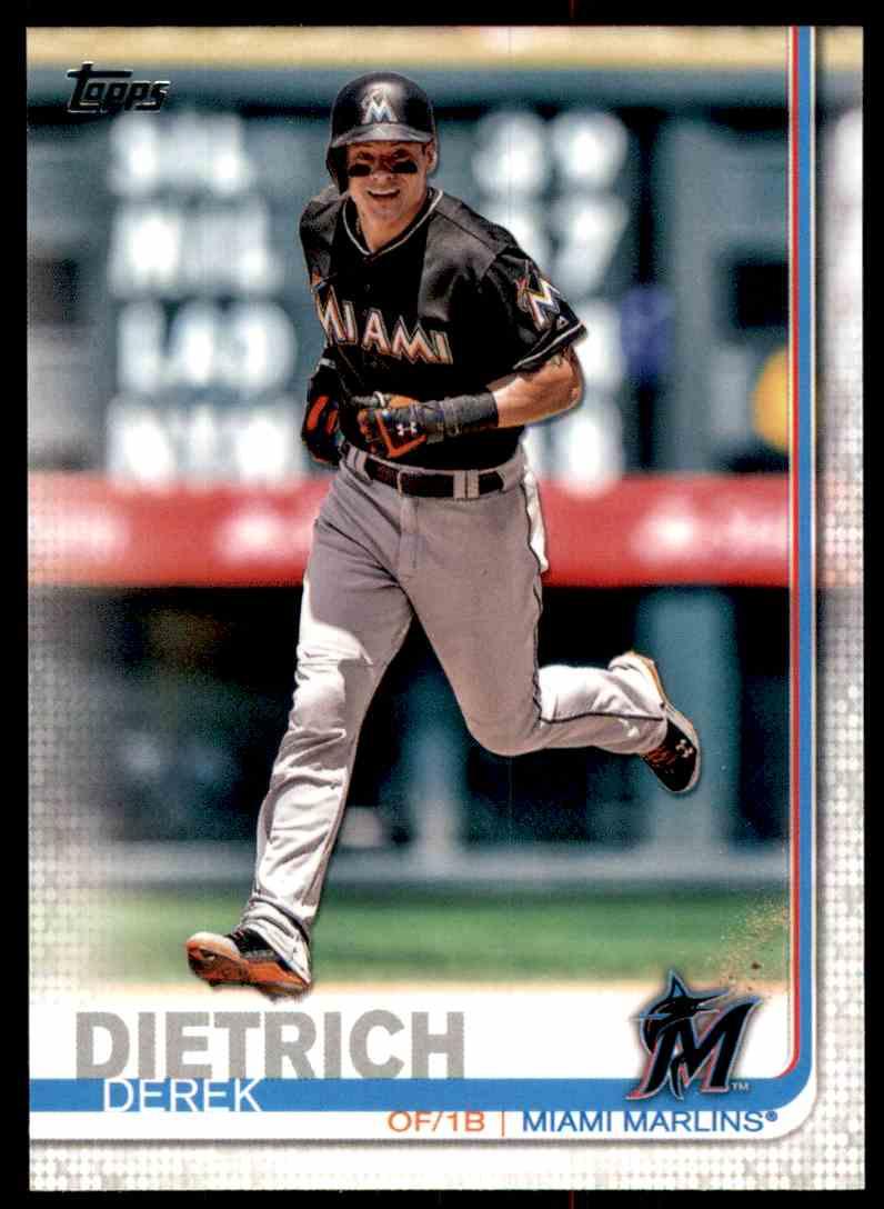 2019 Topps Derek Dietrich #65 card front image