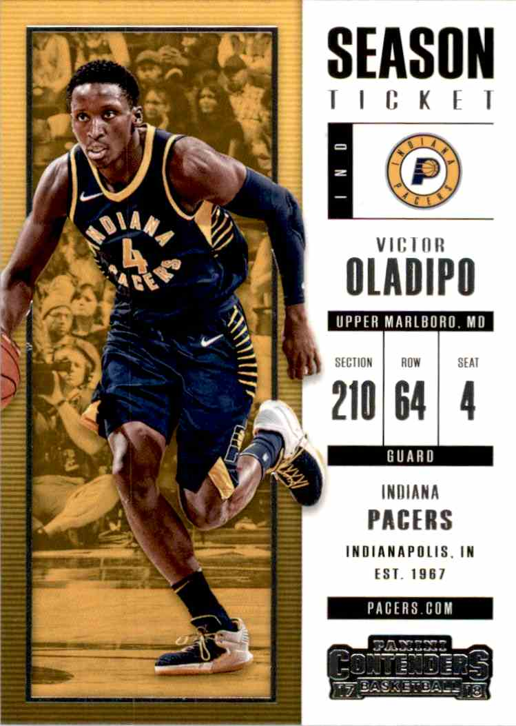 2017-18 Panini Contenders Base Victor Oladipo #2 card front image