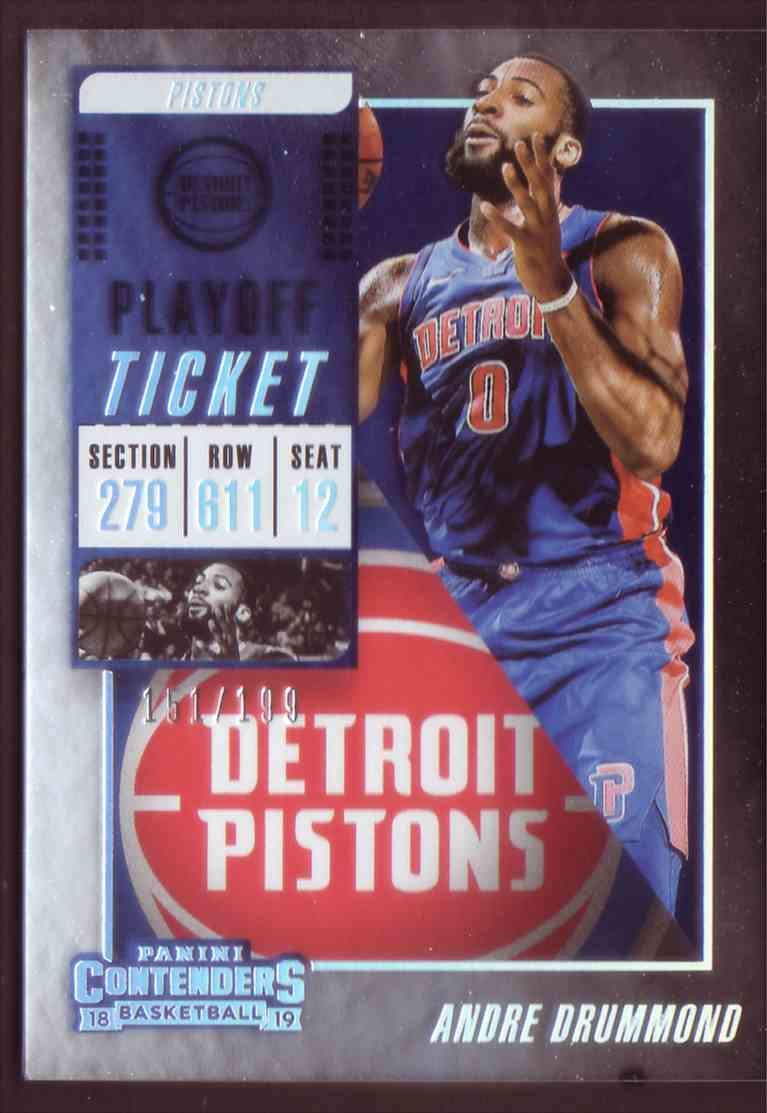 2018-19 Panini Contenders Playoff Tickets Andre Drummond #78 card front image