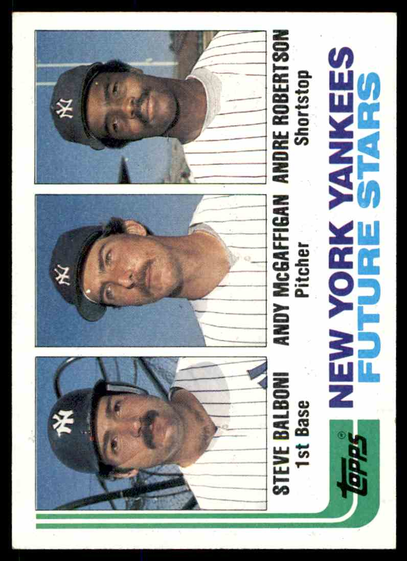 1982 Topps New York Yankees #83 card front image