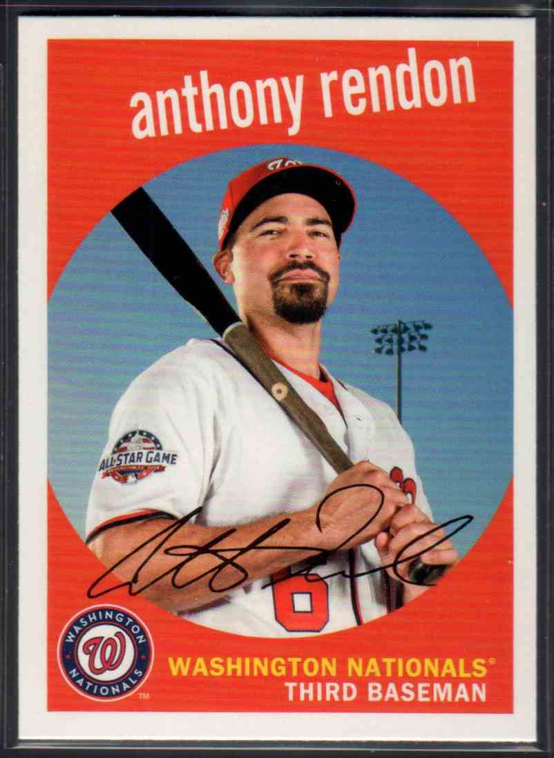 2018 Topps Archives Anthony Rendon #34 card front image