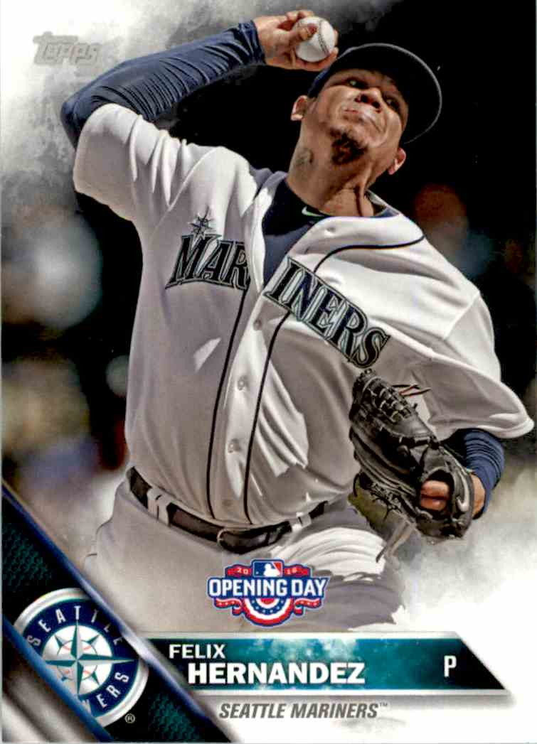 2016 Topps Opening Day Felix Hernandez #OD-10 card front image