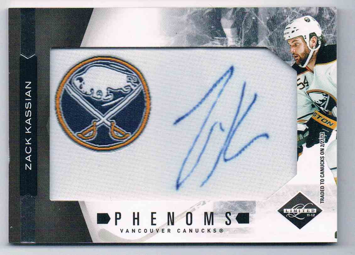 2011-12 Panini Limited Phenoms Zack Kassian #243 card front image