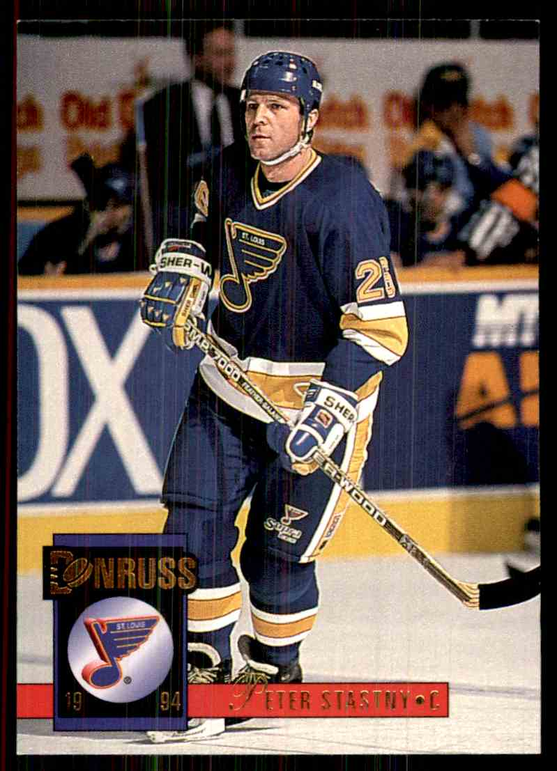 1993-94 Donruss Peter Stastny #487 card front image