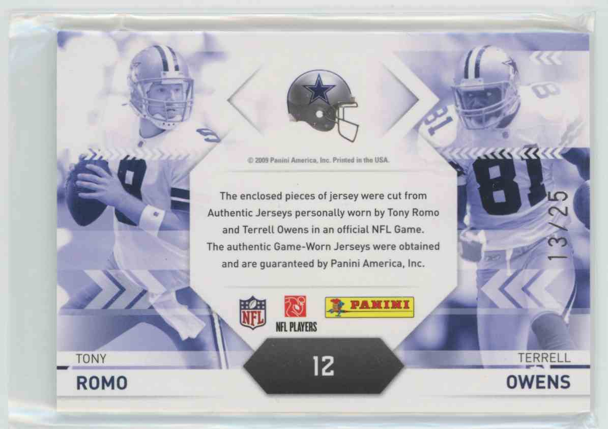 new product d2027 d0b1c 2009 Playoff Prestige Connections Materials Prime Tony Romo ...