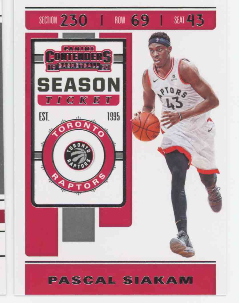 2019-20 Panini Contenders Pascal Siakam #87 card front image
