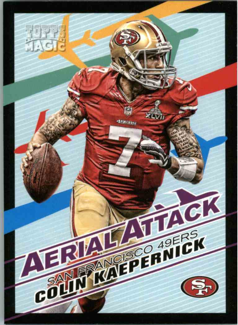 2013 Topps Magic Aerial Attack Colin Kaepernick #AACK card front image