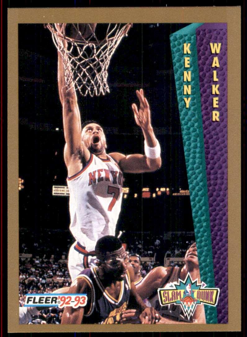 1992-93 Fleer Kenny Walker Sd #277 card front image
