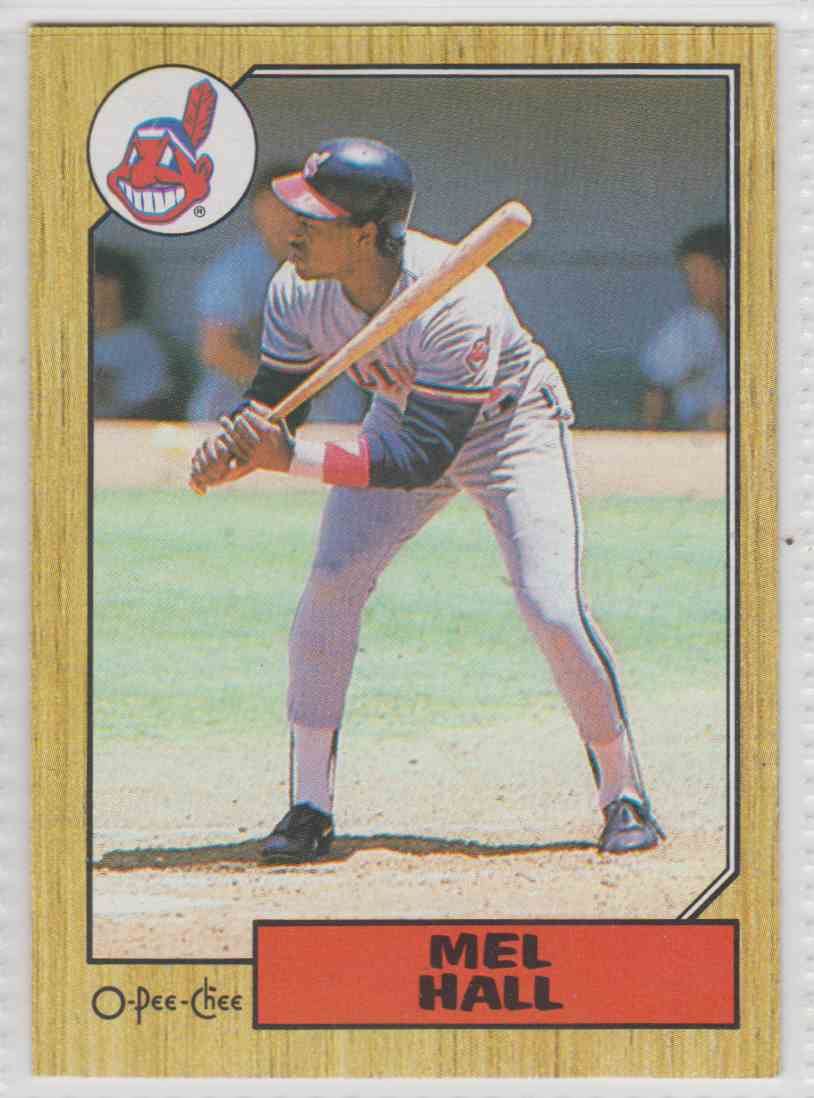 1987 O-Pee-Chee Mel Hall #51 card front image