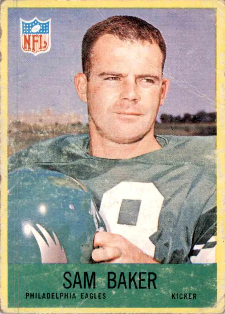 1967 Philadelphia Sam Baker #134 card front image