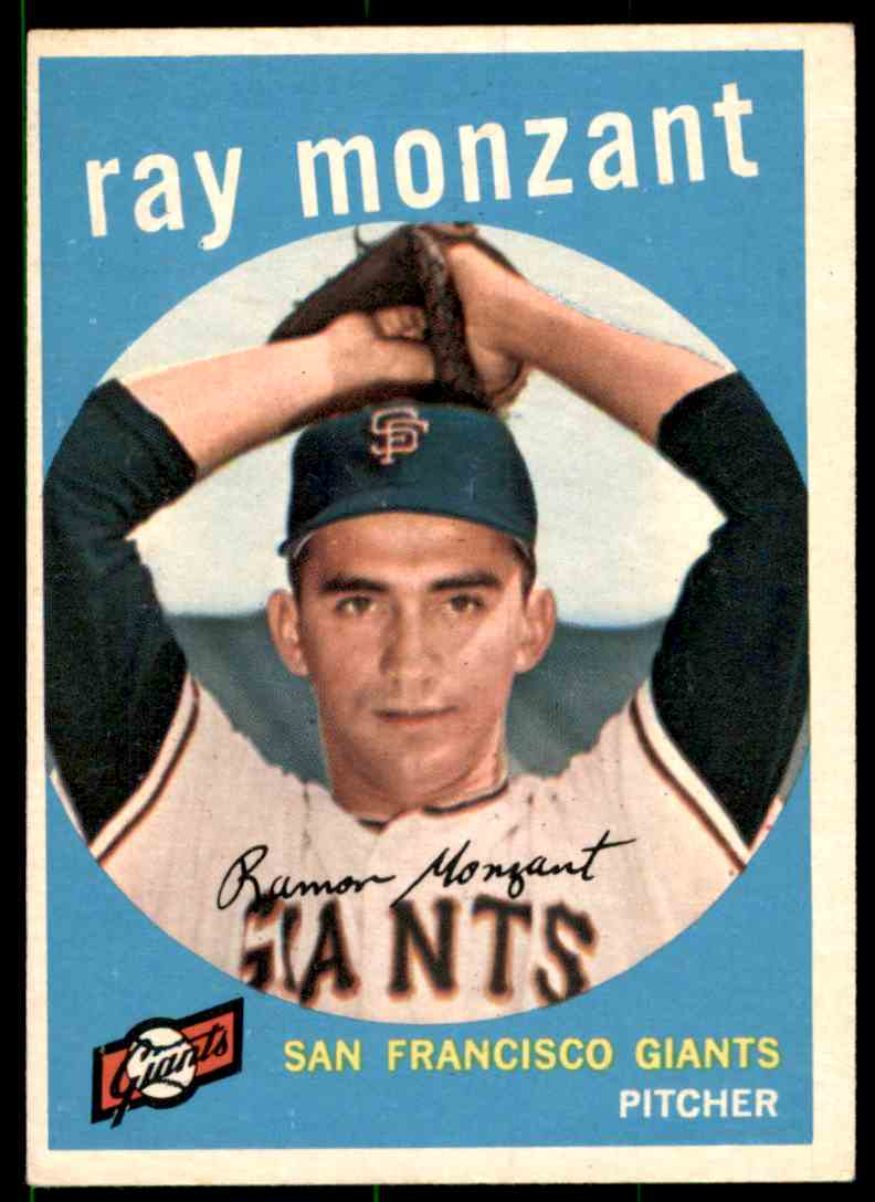 1959 Topps Ray Monzant #332 card front image