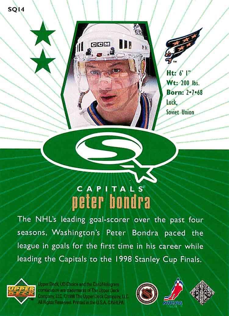 1998-99 Upper Deck Choice Starquest Green Peter Bondra #SQ 14 card front image