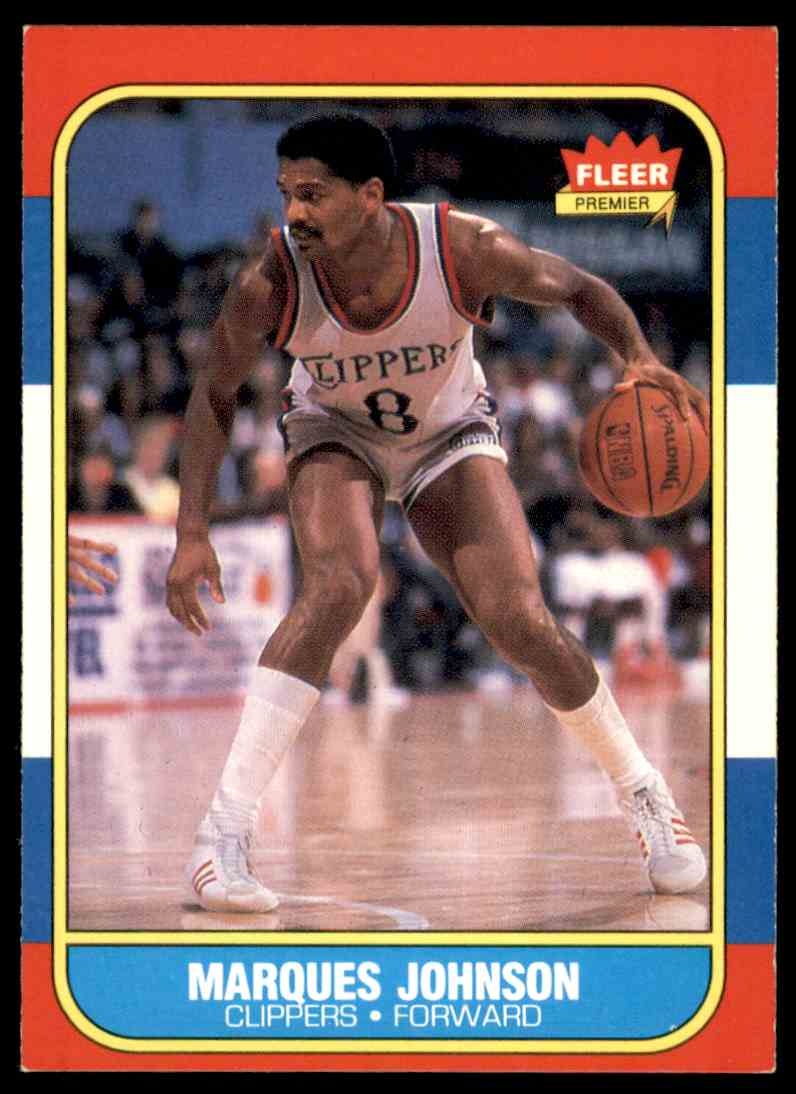1986-87 Fleer Marques Johnson #54 OF 132 card front image