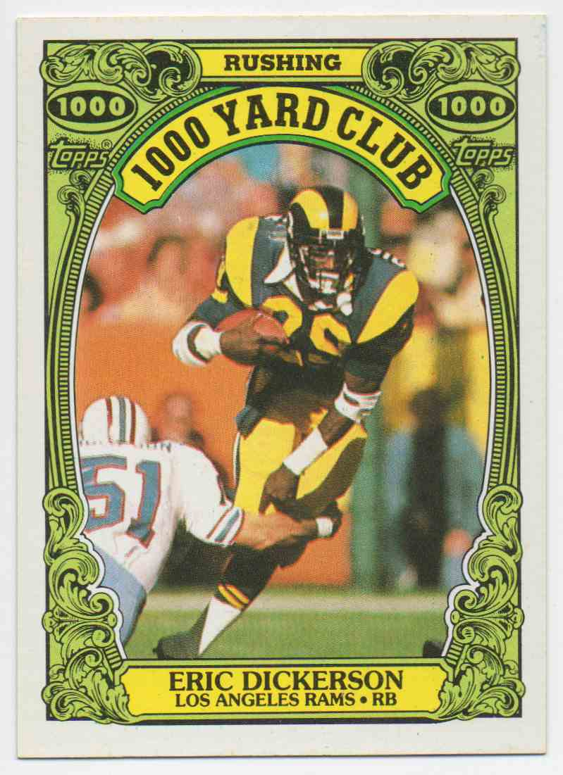 1986 Topps 1000 Yard Club Eric Dickerson #10 card front image