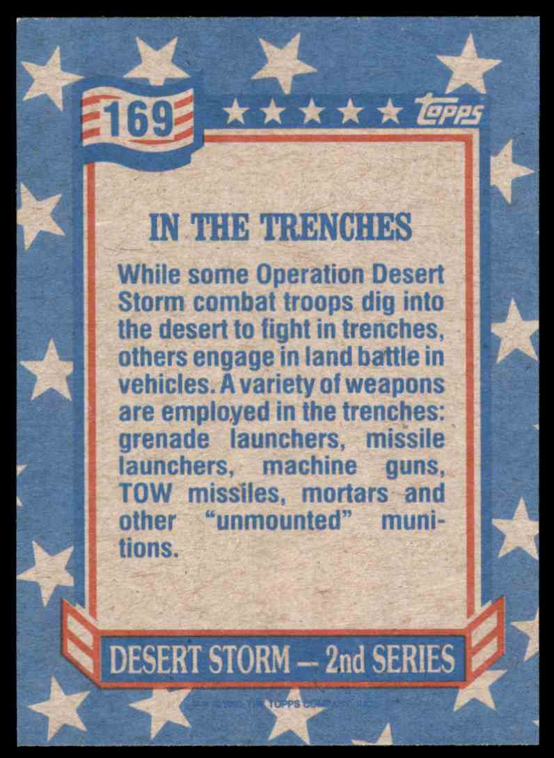 1991 Desert Storm Topps In The Trenches #169 card back image