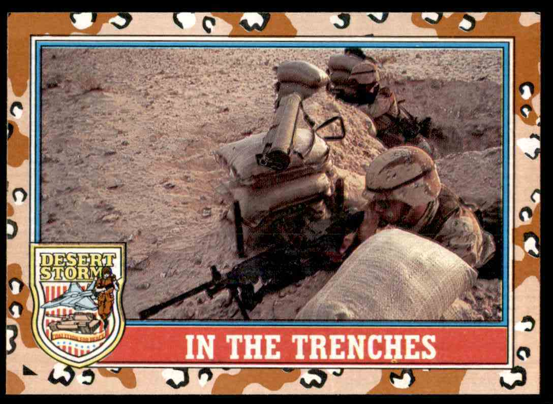 1991 Desert Storm Topps In The Trenches #169 card front image