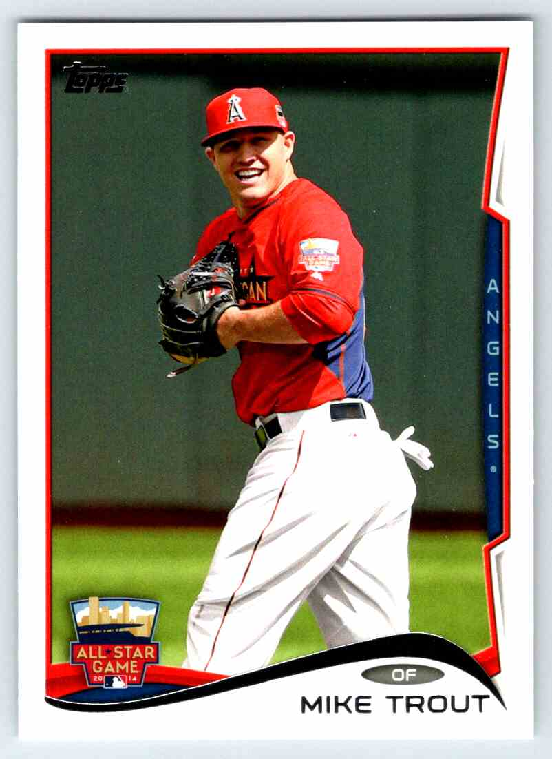 2014 Topps Update Mike Trout #US54 card front image
