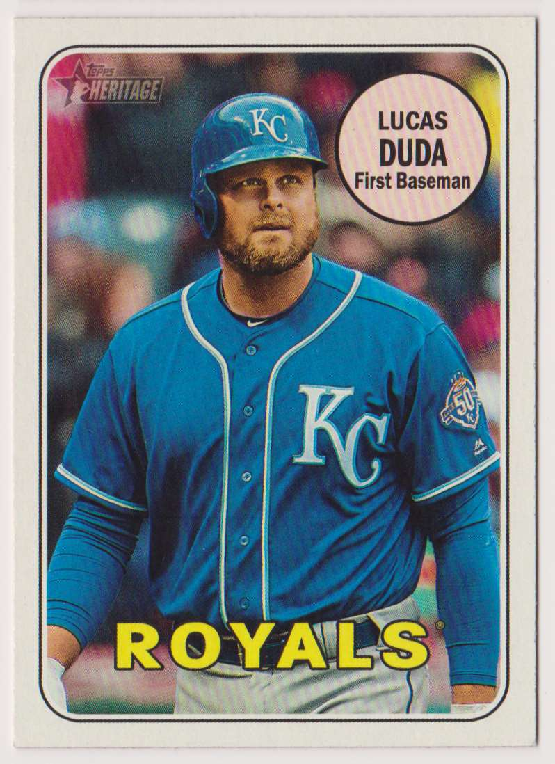 2018 Topps Heritage Lucas Duda #588 card front image