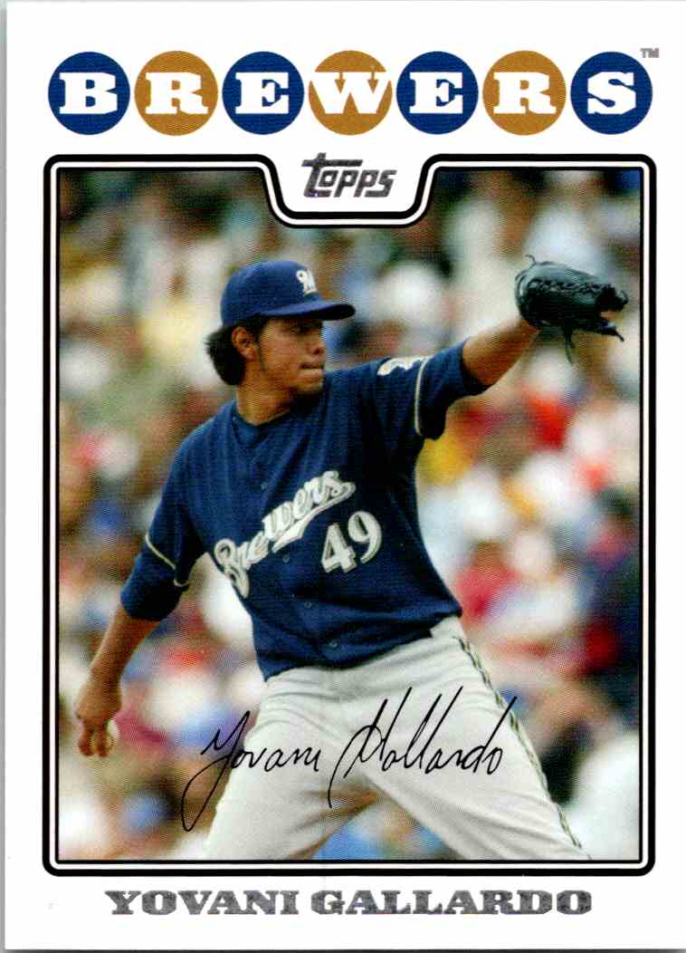 2008 Topps Yovani Gallardo #39 card front image